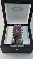 Oakley Minute Machine Watch Titanium Band Red Face+Hard Case 10-251 X Metal
