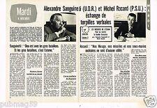 Coupure de presse Clipping 1973 (2 pages) Alexandre Sanguine et Michel Rocard