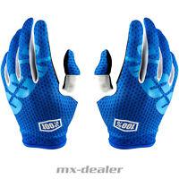 100% Prozent itrack Handschuhe blau MTB DH MX BMX Motocross Enduro Quad 2018