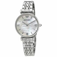 EMPORIO ARMANI AR1682 Classic Mother of Pearl Dial Ladies Wrist Watch