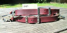 Rose Lodge Breast Collar Leather Wither Strap w Jeremiah Watt Conway Buckles