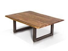 GERA Couchtisch Sofatisch 120x80 cm Tisch Akazie massiv lackiert Metallfüße