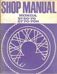HONDA ST50,ST70 E,D,DAX,CT70 H,K1,K2,K3 1969-1974 FACTORY WORKSHOP MANUAL