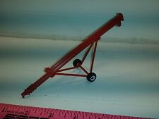 1/64 ertl farm toy 32' red grain auger.  Plastic rubber tire standi toys
