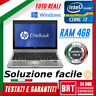 """PC NOTEBOOK PORTATILE HP ELITEBOOK 2560P 12"""" CPU i7 4GB RAM +LICENZA WIN 10 PRO"""