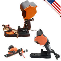 NEW 4800 RPM Electric Chain Saw Sharpener Grinder Bench Vise Mount Chainsaw 110V