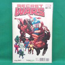 Secret Wars #1 Comic Book Marvel 2015 Neal Adams Variant Cover Deadpool Avengers