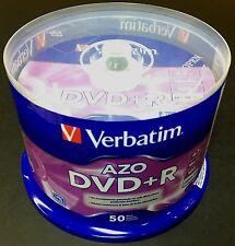 VERBATIM 95037 DVD+R 16X Branded 4.7GB  AZO Blank Disc 50pk Spindle