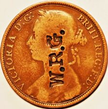 1893.Britain . One Peny  Conterstamp W.R.G
