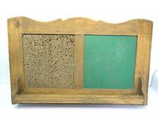 Vintage Natural Wood Green Chalkboard Corkboard Game Score Keeping Scoreboard