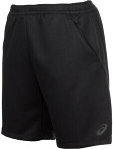 Asics Knit Mens Training Shorts Black 9 Inch Exercise Gym Sports Workout Short