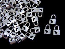 15 mm.. C008 Un pack de 20 Tibetan Silver double face Cadenas Charms