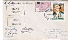BRITISH ANTARCTIC TERRITORY SOUTH ORKNEY SIGNY ISLAND 1975 Signed by crew