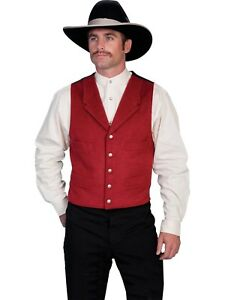 WAHMAKER by SCULLY OLD WEST COWBOY CLOTHING WOOL BLEND VEST - USA MADE