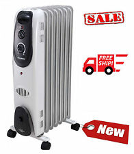 Pelonis Electric Radiator Space Heater 7 Fin Oil-Filled Radiant Room Thermostat