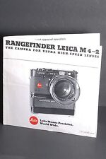 Leica Rangefinder M4-2 The Camera For Ultra High-Speed Lenses 1978 Brochure