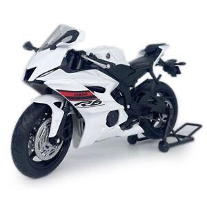 1:12 Yamaha YZF-R6 Motorcycle Model Diecast Toy Motorbike Model Boys Gift White