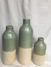 Imax Set of 3 Dahlia Vases in Green Finish 10967-3