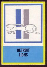 1967 PHILADELPHIA DETROIT LIONS  CARD NO:72 NEAR MINT CONDITION