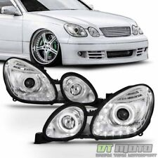 For 1998-2005 Lexus GS300 GS400 GS430 LED Halo DRL Projector Headlights Headlamp