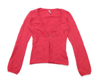 White stuff Womens Size 8 Cotton Blend Red Cardigan (Regular)