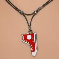 Collier pendentif basket rouge cordon base-ball - red baseball boot necklace