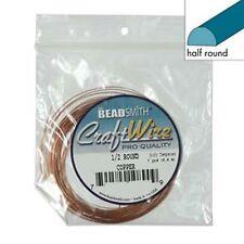 Half Round 18Ga Non-Tarnish Copper Wire 7yd 41585