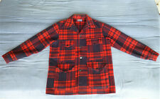 Vtg Pendleton USA Wool Mackinaw Cruiser Hunting Jacket w/Rear Pocket, Mens Large