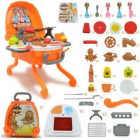 39pcs Kids Toy Barbecue Stand Cooking Grill Fun Play Set Light & Music