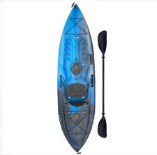 Lifetime Tamarack Angler Fishing Kayak Blue 10' Brand New With Paddle/Rod Holder