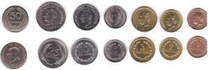El Salvador - set 7 coins 1 2 3 5 10 25 50 Centavos 1972 - 1999 UNC / aUNC