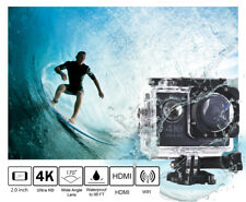 4K Ultra HD WIFI Waterproof Action Camcorder 16MP 2 inch LCD Black as GoPro