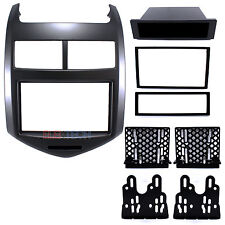 Radio Replacement Dash Mount Kit Single/Double-DIN w/Pocket for Chevrolet Sonic