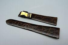 RR34 Orig CORUM Leder Kroko Armband Braun brown leather strap 20mm TOP unbenutzt