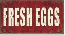 FRESH EGGS FARM BARN DECOR Metal Signs 16 x 8 1/2 Tin Vintage Style Kitchen