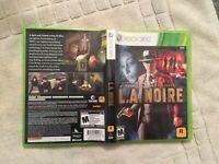 L.A. Noire (Microsoft Xbox 360, 2010) Complete W/ Manual, Working Rockstar Games