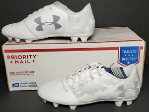UNDER ARMOUR SPOTLIGHT DL FG JR YOUTH SIZE 6Y  WHITE 1289542-100