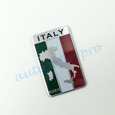 Universal Parts 3D Sticker Decal Trim Italy Italian Map Flag Logo Emblem Badge
