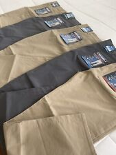 DENALI Men's Straight Flat Front Travel Pants UPF 50 Stretch Flex Waist Band NWT