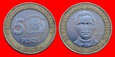 5 PESOS 1997 REPUBLICA DOMINICANA CARIBE-22161