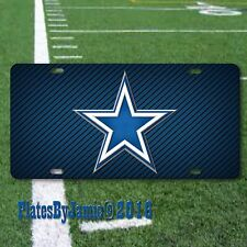 Dallas Cowboys NFL Football Team Texas TX Blue White Star Aluminum License Plate