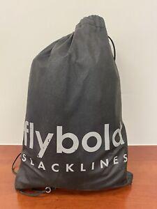Flybold Slackline Kit 57ft with Training Line Ratchet Tightening Adjustment