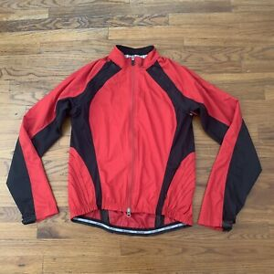 Specialized Red Long Sleeve Full Zip Athletic Cycling Jacket Sz Small Red/black