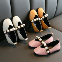 Fashion Children Girls Princess Shoes Toddler Kids Baby Pearl Sandals Shoes NEW