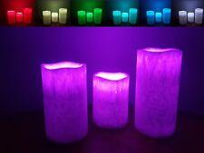 3x Farbwechselnde LED Kerzen Flammenefect Timer Mode
