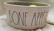 """Rae Dunn Magenta Rae Dunn """"Bone Appetit"""" bowl / Food Bowl Ceramic Grey Glaze HTF"""