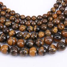 "4-10MM 15"" Natural Yellow Tiger Eye Gemstone Loose Spacer Beads Jewelry Making"