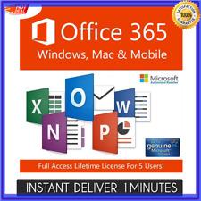 ✓ INSTANT Microsoft Office 365 For Windows Mac Pro Plus - 5 Devices Lifetime 💥