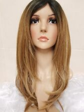 Brazilian Ash Sandy Mousey Caramel Brown Real Human Hair Wig layered short cut