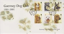 Unaddressed Guernsey FDC Cover 2001 Guernsey Dog Club 1901-2001 10% off 5